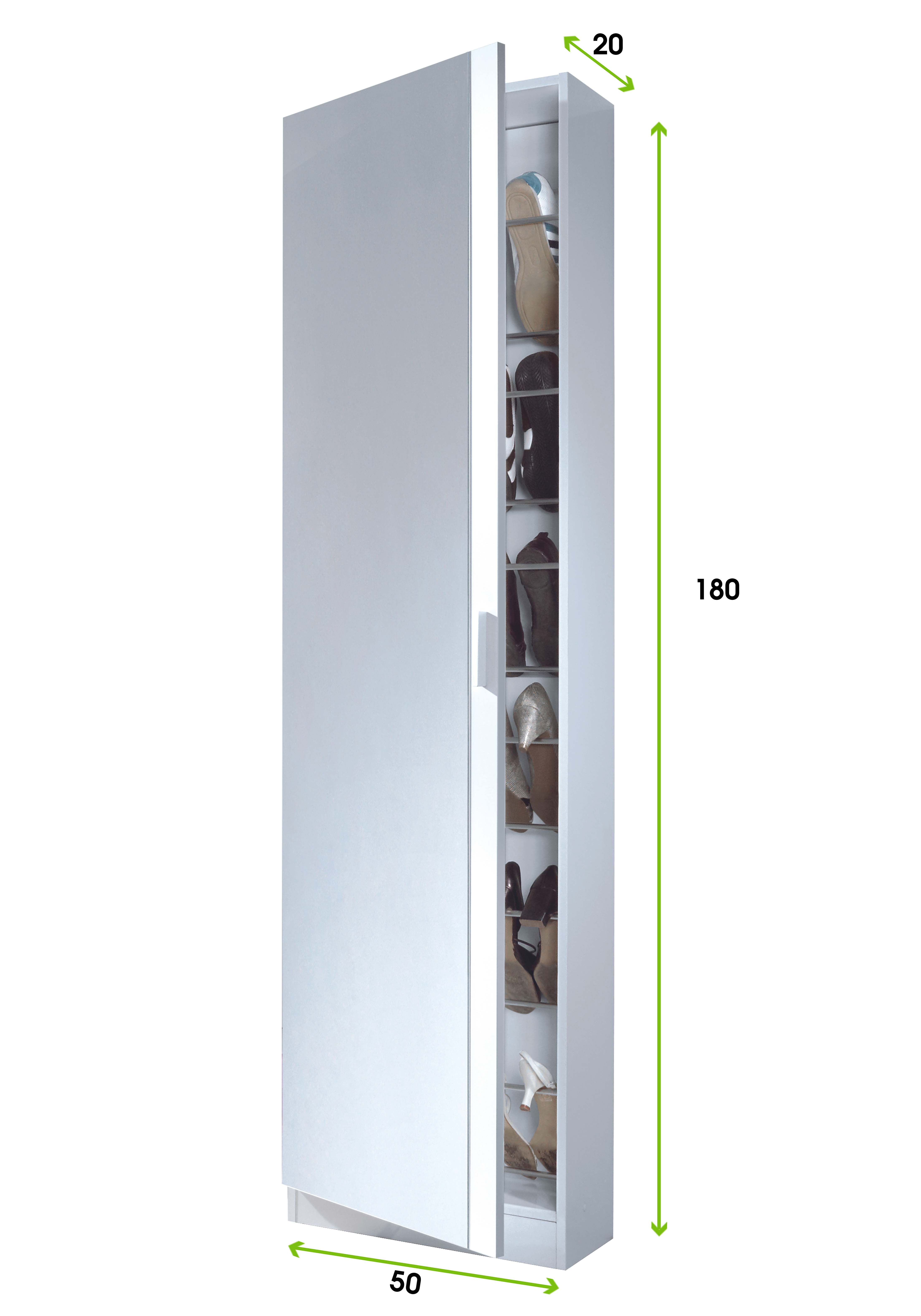 Mueble zapatero con puerta cristal espejo armario - Armario con zapatero ...